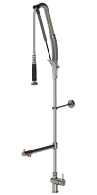 Einhebel-Standbatterie mit Schwenkventil